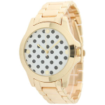 Boyfriend Watch with Polka Dot Print Face - $15 with FREE Shipping!