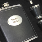 Engraved Stainless Steel 6 Piece Flask Gift Set - $38 with FREE Shipping!