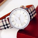 Fashion Plaid Leather Strap Unisex Watch - $15 with FREE Shipping!