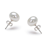 Freshwater Pearl Stud Earrings 7-8mm - THREE colors Available - $7 with FREE Shipping!